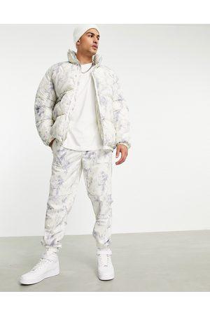 Topman Co-ord relaxed tie dye jogger in grey