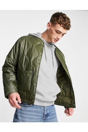 ASOS Quilted jacket in khaki-Green