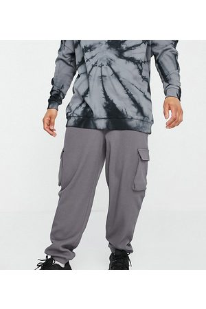 COLLUSION Oversized utility joggers in charcoal waffle fabric co-ord-Grey