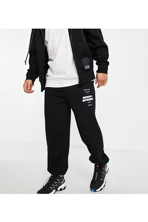 COLLUSION Oversized joggers with print in black co-ord