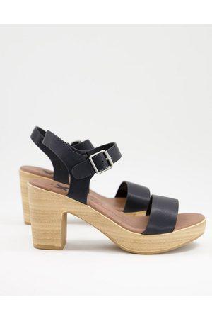 Xti Heeled sandals in black