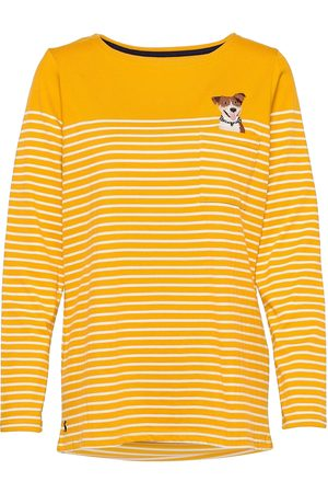 Joules Dame Langermede - Harbour Emb T-shirts & Tops Long-sleeved Gul