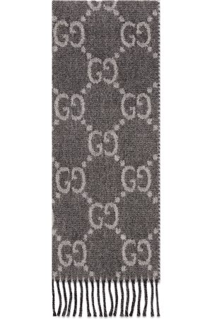 Gucci Herre Skjerf - GG jacquard pattern knit scarf with tassels
