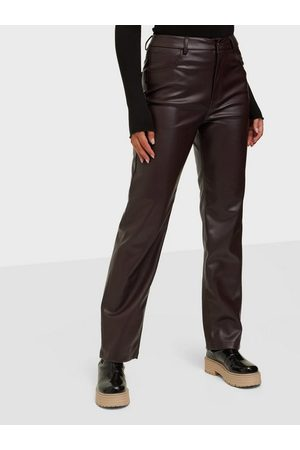 Gina Tricot Dame Bukser - 90s Pu Trousers