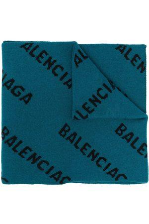 Balenciaga Intarsia-knit logo scarf