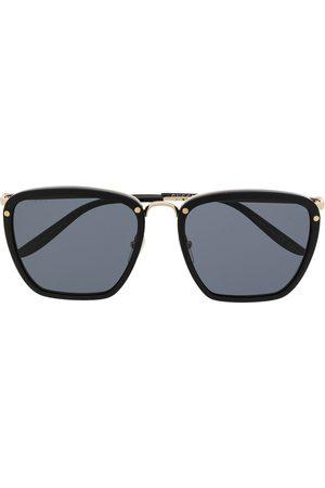 Gucci Herre Solbriller - Engraved logo square-frame sunglasses