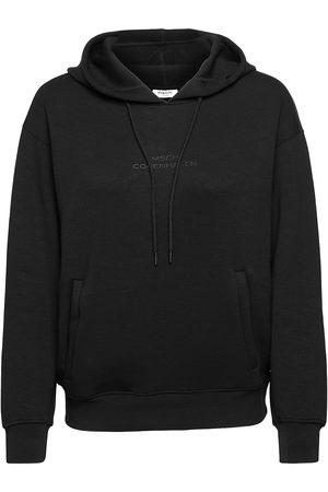 Moss Copenhagen Dame Sweatshirts - Ima Ds Logo Hood Sweatshirt Genser Creme