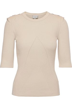 Dante 6 Sephine Detail Button Sweater T-shirts & Tops Knitted T-shirts/tops Creme