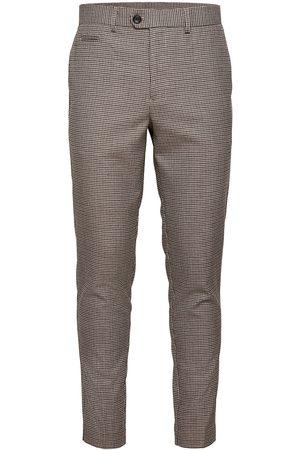 Lindbergh Herre Chinos - Houndtooth Pants Dressbukser Formelle Bukser Brun