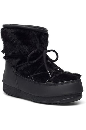 Moon Boot Dame Skoletter - Mb Monaco Low Fur Wp 2 Shoes Boots Ankle Boots Ankle Boot - Flat