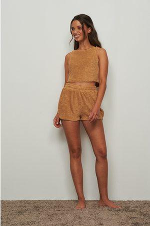 NA-KD Dame Shorts - Terry loungewear shorts