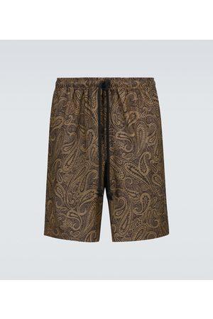 COMMAS Walk printed wool shorts