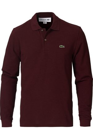 Lacoste Herre Pique - Long Sleeve Polo Vine Chine