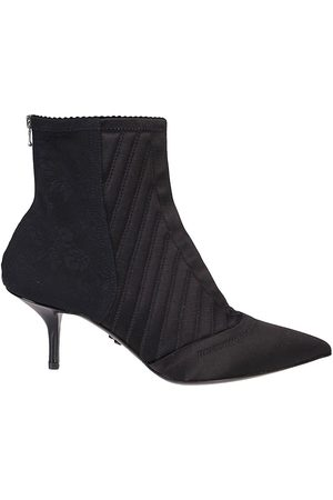 Dolce & Gabbana Corset-style satin ankle boots