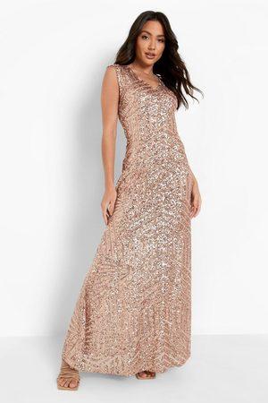Boohoo Dame Maxikjoler - Sequin Sleeveless Maxi Bridesmaid Dress