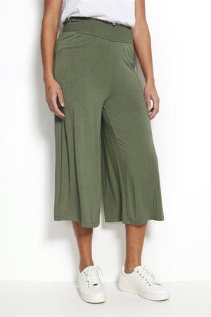 Cellbes Dame Culotte bukser - Culottebukse i trikot med vaffelsømlinning.