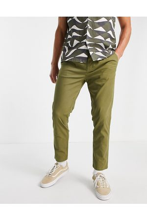 ASOS Herre Chinos - Cigarette fit chinos in khaki-Green