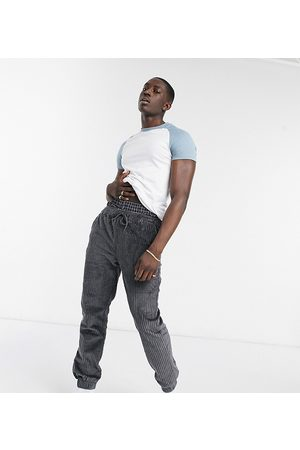 ASOS Herre Chinos - Relaxed cord joggers in charcoal-Grey