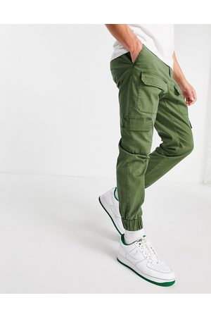 ASOS Herre Chinos - Tapered trousers with multi pockets in khaki-Green