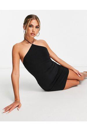 Flounce London Dame Halterneckkjoler - Flounce naughties halterneck mini dress in black