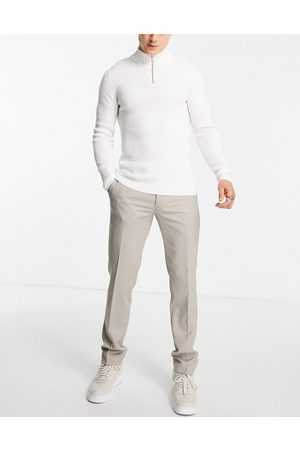 Twisted Tailor Herre Chinos - Hemmingway skinny suit trousers in -Neutral