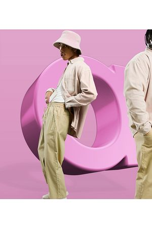 ASOS Herre Chinos - Drop crotch trousers in lightweight in -Neutral