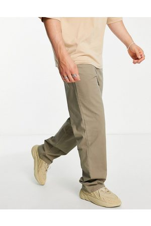 ASOS Herre Chinos - Relaxed chinos in washed khaki-Green