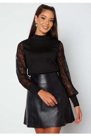 Happy Holly Dame Blonder - Elena lace sweater Black 40/42