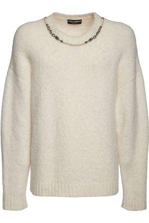 Dolce & Gabbana Dg Chain Alpaca Blend Knit Sweater