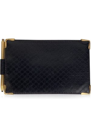 Gucci Vintage Monogram Leather Document Holder Wallet with Pen