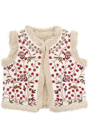 BONPOINT Fur-trimmed vest