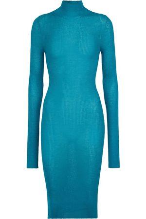 Bottega Veneta Ribbed-knit cashmere midi dress