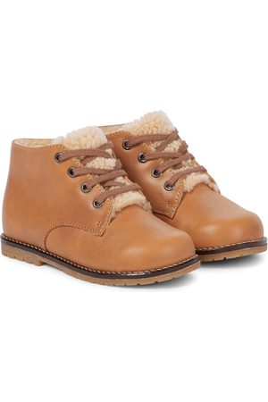 BONPOINT Baby Wood shearling-lined boots
