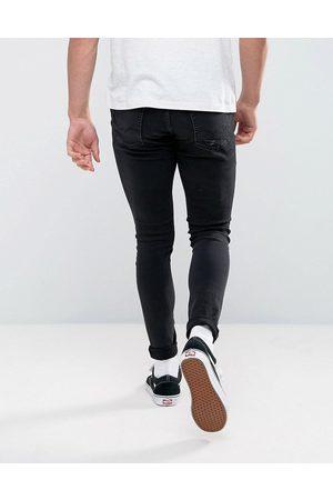 JACK & JONES Herre Skinny - Intelligence Liam skinny fit ripped jeans in black wash