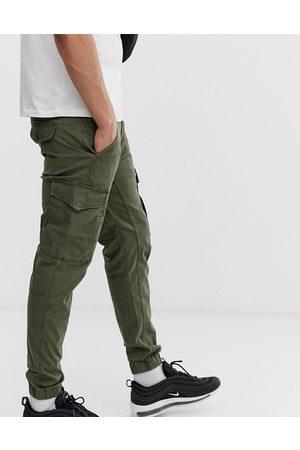 JACK & JONES Herre Cargobukser - Intelligence cuffed cargo trouser in green