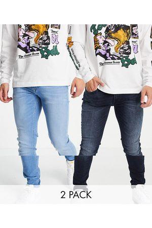 JACK & JONES Herre Skinny - Essentials 2 pack Liam skinny jean in dark & light blue-Multi