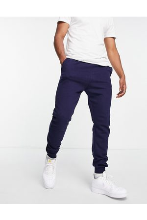 Le Breve Slim fit joggers in navy