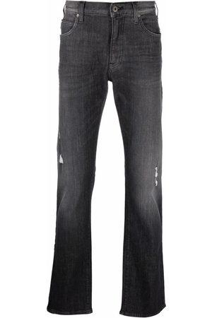 Emporio Armani Herre Straight - Logo-plaque jeans