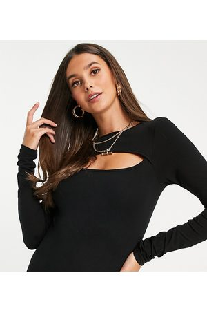 ASOS Dame Body - ASOS DESIGN Tall long sleeve bodysuit with cut out in black