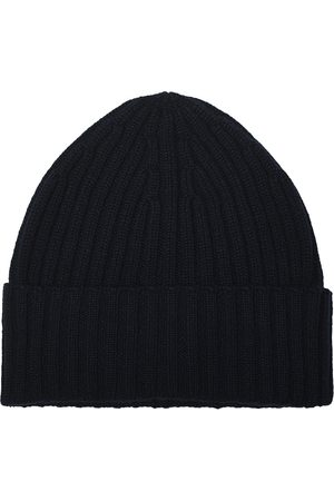 Piacenza Cashmere Herre Luer - Ribbed Cashmere Beanie Navy