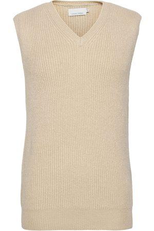 Casual Friday Herre Vester - Klaes Knit Vest Knitwear Knitted Vests Beige