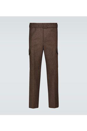 Auralee Shetland wool belted pants