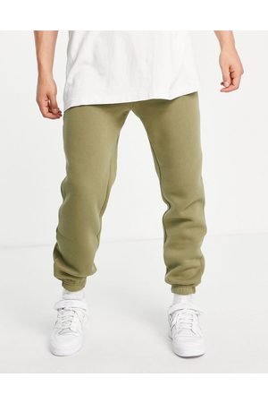 JACK & JONES Originals cuffed joggers in khaki-Green