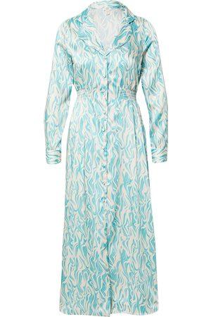 River Island Dame Mønstrede kjoler - Blusekjoler 'V NECK BLUE PRINT DRESS