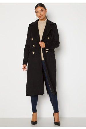 Chiara Forthi Donetta Double Breasted Coat Black 40