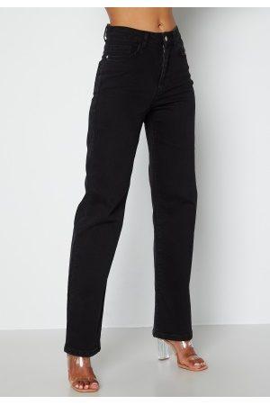 BUBBLEROOM June wide leg jeans Black denim 34S