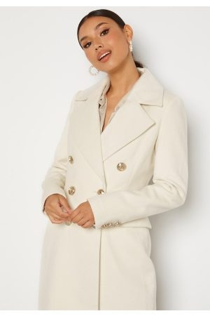 Chiara Forthi Donetta Double Breasted Coat Offwhite 40