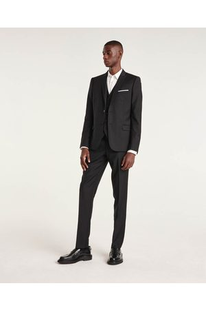 The Kooples Herre Chinos - Fitted black suit trousers in wool