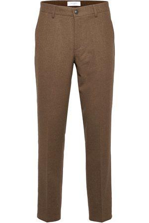 Les Deux Herre Chinos - Como Reg Wool Pants Dressbukser Formelle Bukser Brun