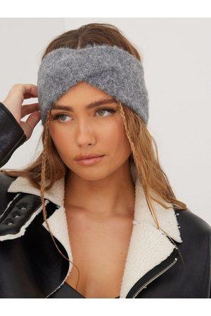 Pieces Dame Pannebånd - Pcberta Headband Noos Bc Medium Grey Melange